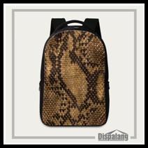 Snakeskin Laptop Computer Backpack (3) Fashion Women Leather Backpacks Black Large School Bags For Teenagers Girls Shoulder Travel Bag Schoolbags Mochila Feminina