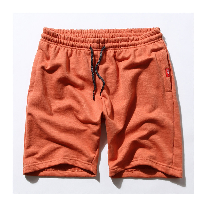 Spring and Summer Original Mens High-quality Bamboo Cotton Shorts Loose Hip Hop Solid Knee Length Short Multi-color Shorts