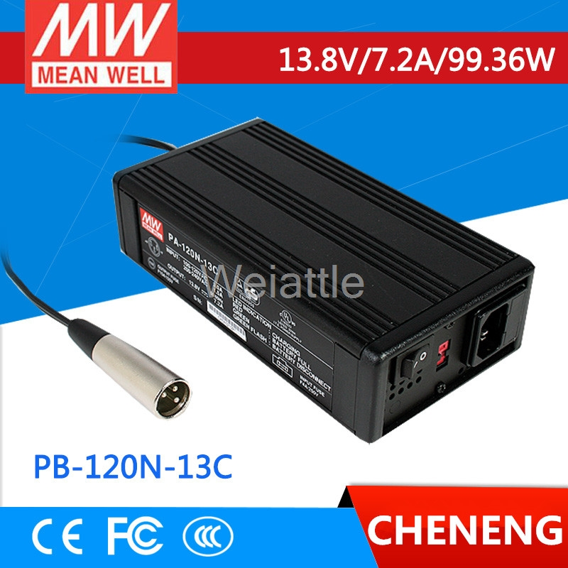 MEAN WELL original PB-120N-13C 13.8V 7.2A meanwell PB-120N 13.8V 99.36W Single Output Power Supply or Battery ChargerMEAN WELL original PB-120N-13C 13.8V 7.2A meanwell PB-120N 13.8V 99.36W Single Output Power Supply or Battery Charger