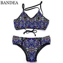 BANDEA bikins 2017 sexy swimwear women brazilian bikini print bikini woman brand women swimwear push size Maillot De Bain Bikini
