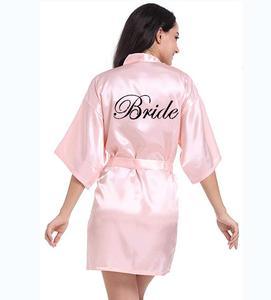 Image 2 - Personalisierte gedruckt Braut Partei Roben Brautjungfern mutter der braut bräutigam maid of honor Hochzeit Tag geschenk satin robe