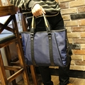 Male han edition briefcase bag handbag Oxford nylon shoulder oblique cross bag