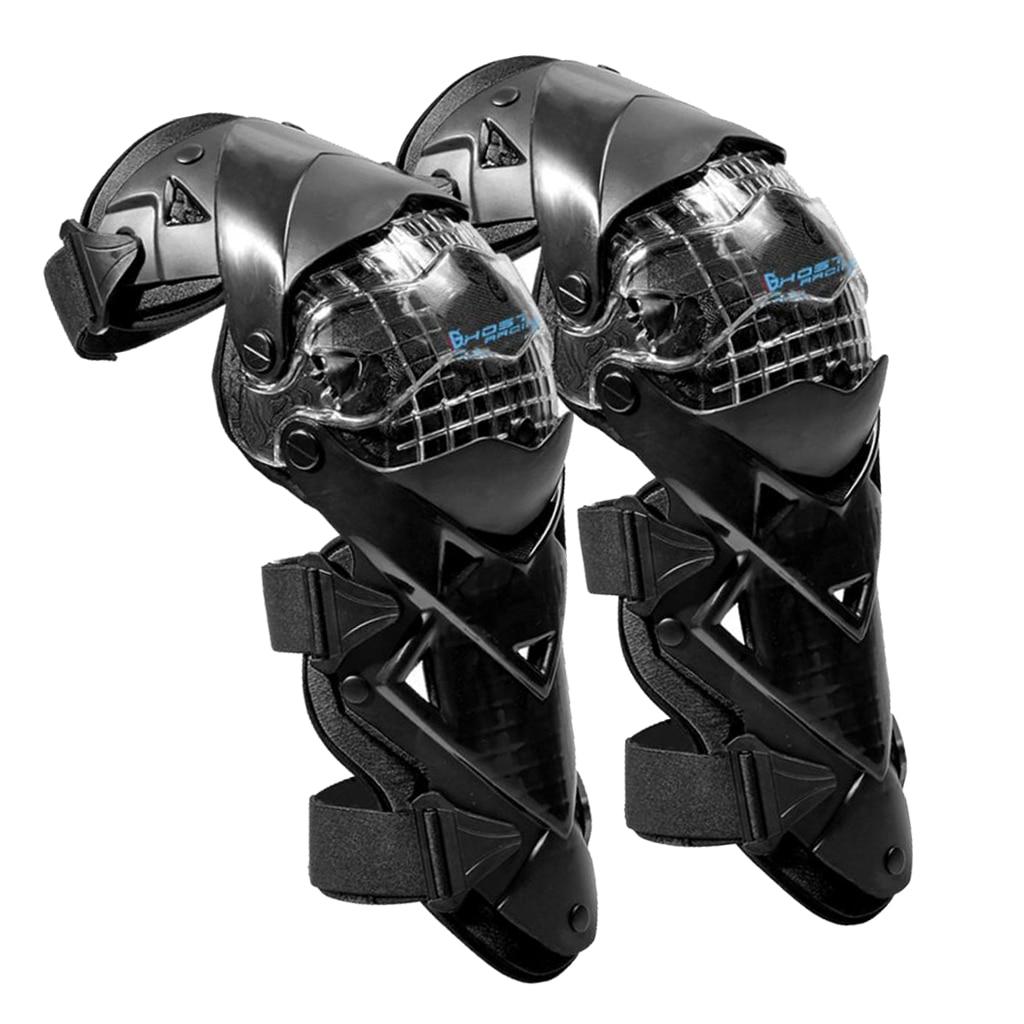 1 Pair Motorcycle Knee Pads Guards Cuirassier Elbow Motorbike Protective Kneepad Motocross Brace Protector Adjustable Belt