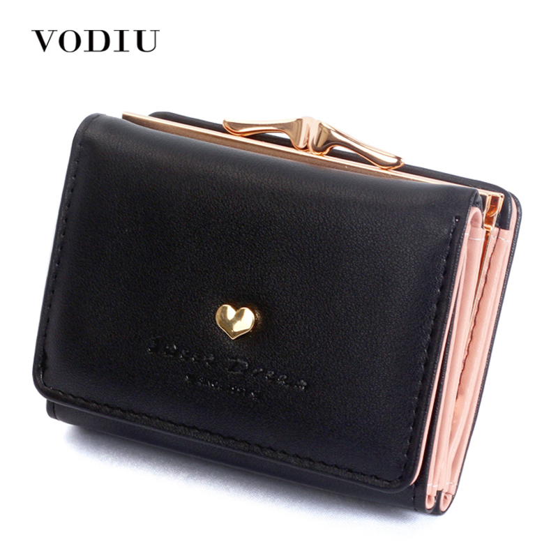 Women Wallets Leather Short Three Fold Letter Kawaii Girl 2017 Coin Holder Card Candy Color Dollar Price Photo Designer Clutch dc movie hero bat man anime men wallets dollar price short feminino coin purse money photo balsos card holder for boy girl gift