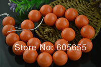 Big size 18mm Coral Orange Color MOP Shell Round Beads Semi Precious Stone Loose Beads Free Shipping