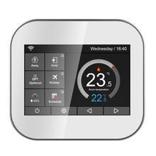 Wifi цветной термостат с сенсорным экраном для котла с английским/польским/чешским/итальянским/испанским android IOS phone