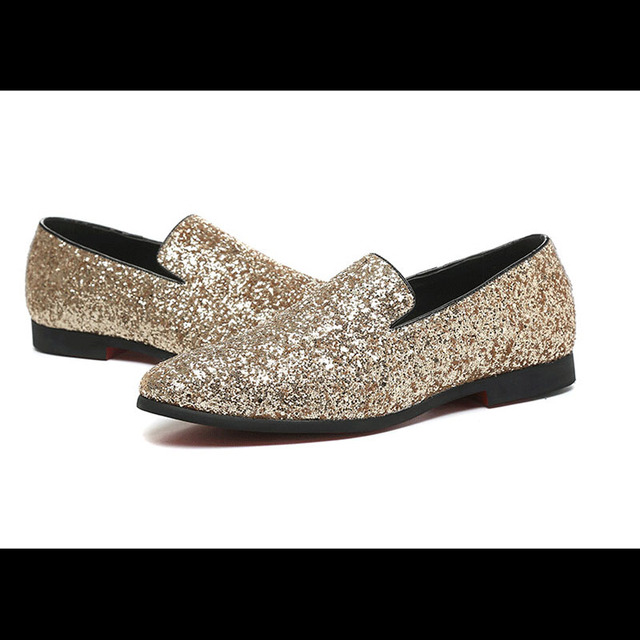 Pas Chaussures Luxe Cher Occasionnels Or De Hommes Appartements R3Lc54Ajq