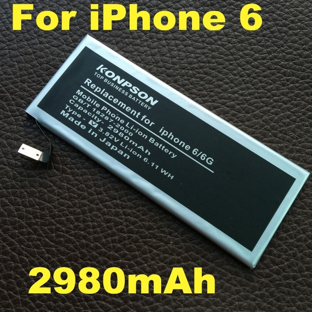 2980mah Replacement For Apple iPhone 6 battery iphone6 6G 4.7 inch battery