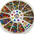 Chic Diamante Facet Rivets Nail Art 2mm 3mm Colorful Metal Studs Decoration 023H 4CSB