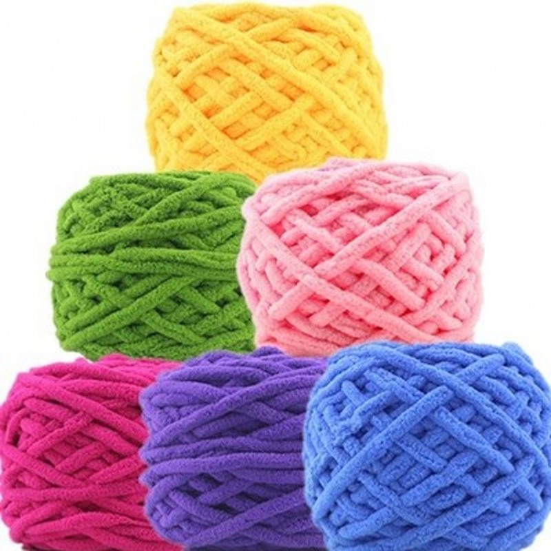 Hand Knitting Yarn : Colorful dye scarf hand knitted yarn for knitting