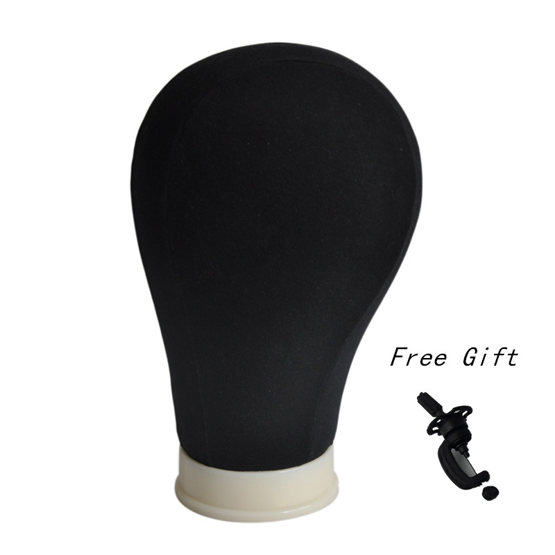 21inch 22inch 23inch 24inch 25inch Black Canvas Block Mannequin Manikin Head Cotton Canvas Head Display for