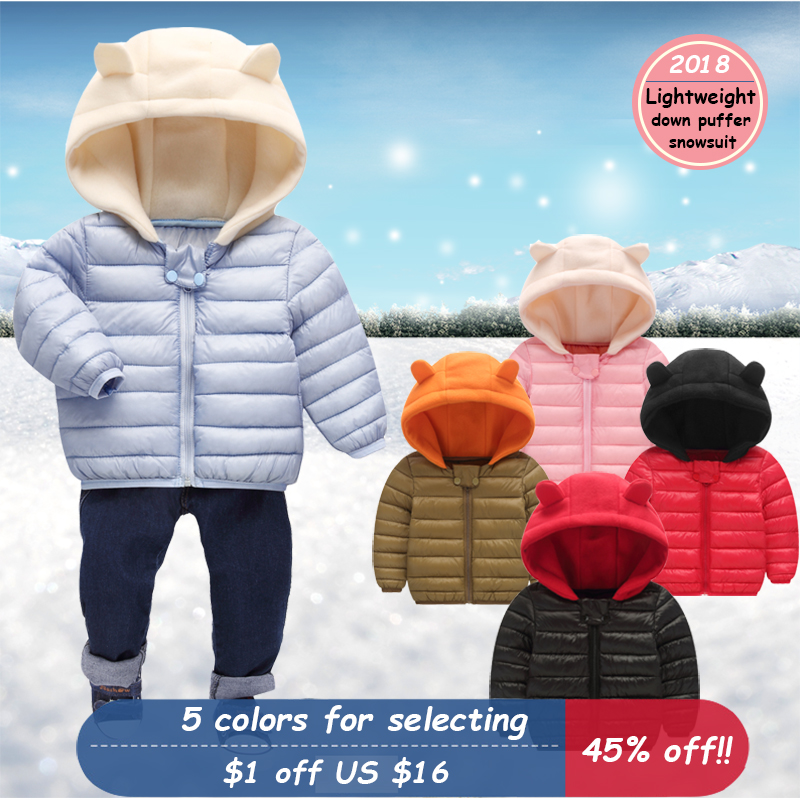 f42189c86b6c Baby Winter Thick Snowsuit Baby Down Puffer Coat Hooded Baby Clothes ...
