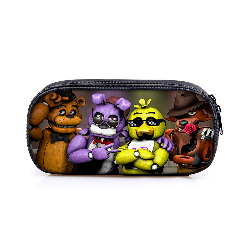 Five Nights at Freddy Boy Girl Cartoon Pencil Case Bag School Pouches Children Student Pen Bag Kids Purse Wallet Gifts teenage mutant ninja turtles tmnt boys cartoon pencil case bag school pouches children student pen bag kids purse wallet