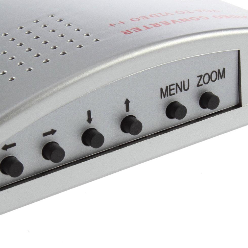 5PCS PC Laptop VGA to TV Monitor S-video Signal Adapter Converter Switch Box pc to tv video converter adapter deep blue