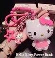 New Hot Olá Kitty Projeto Duplo USB PowerBank Portátil 5500 mAh Carregador de Bateria Externa 3 Cores para todos os celulares