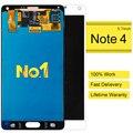 10 unids 100% original para samsung note 4 n9100 pantalla lcd y pantalla táctil digitalizador asamblea para nota4 piezas de repuesto