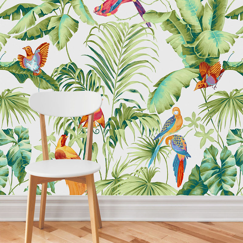 Custom 3D Mural Wallpaper Modern Simple Rain Forest Flowers Bird Photo Wall Papers Living Room TV Sofa Backdrop Wall Home Decor custom photo wallpaper modern 3d stereoscopic mural bird woods art wallpaper living room tv background wall papers home decor