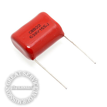 25MM pin CBB22 630V 155 1.5UF 1500NF CBB capacitor  (50PCS/LOT)