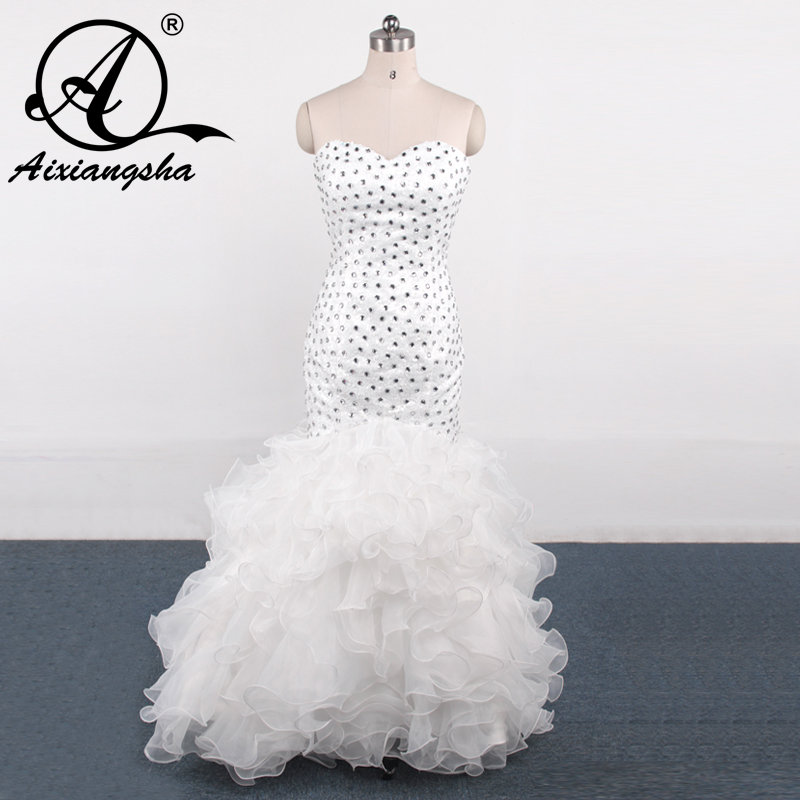 Cheap White Cocktail Dresses 2018: 2018 Discount Cheap Beads Rhinestones Evening Gowns Sexy