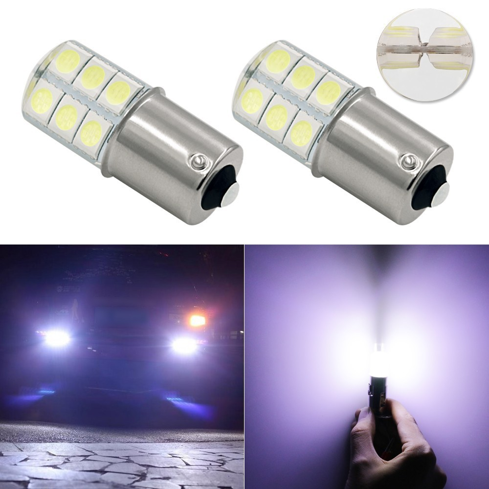 цена на 1 Piece Car 1156 COB Led Light 1156 BA15S P21W 5050 Smd 6 Led Auto Brake Turn Signal Bulb Crystal Lamps Led 12V Parking Styling