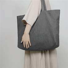 Large Women Shopping Bag Ladies Shoulder Totes Eco Daily Use Foldable Canvas Female