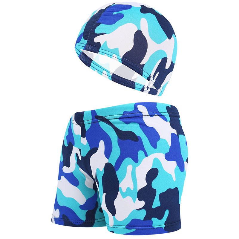 Kids Children Swimming Trunks Briefs Shorts Caps Camouflage Printed Colorful Swim Pool Beach Swimwear Swimsuit Bathing Suit Wear(China)