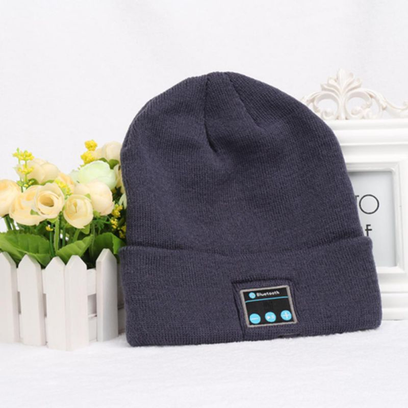 Warm Winter Hat with Speaker Microphone Hat Wireless Bluetooth Headset Music Cap Smart Cap Earphone Headset men women bluetooth headphone cap wireless sports earphone hat bluetooth v4 1 music hat cap speaker earphones baseball hats