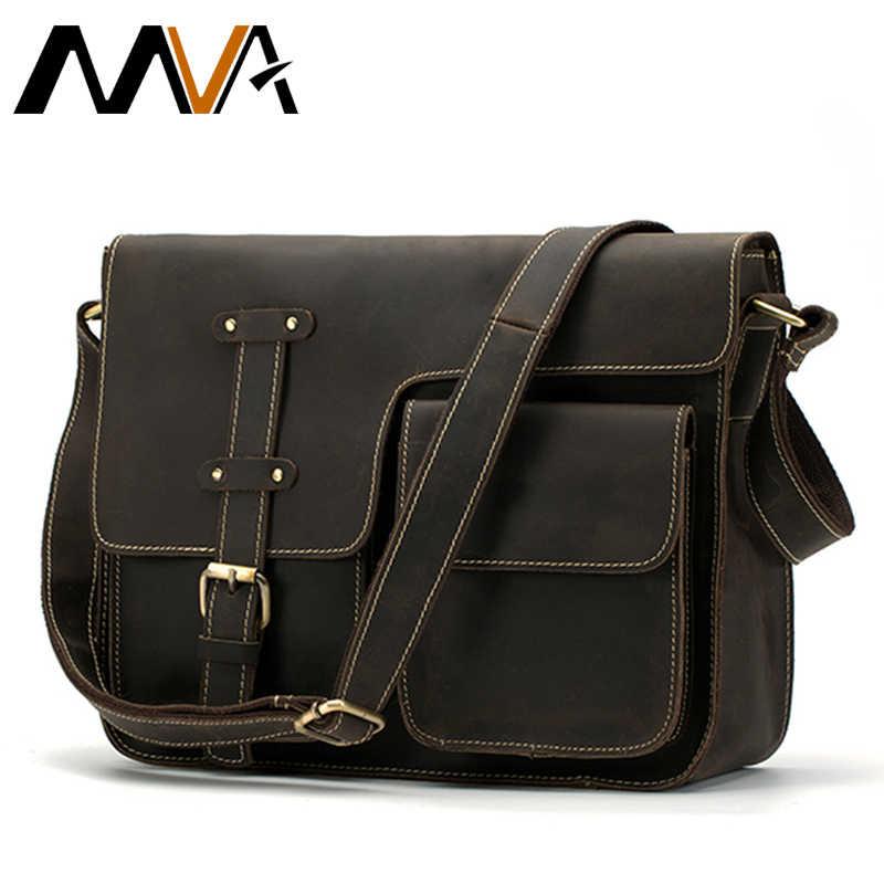 8bafb768 МVA сумка кожаная большая мужская сумка мужская подлинная кожаная сумка  мужские сумки из натуральной кожи сумка