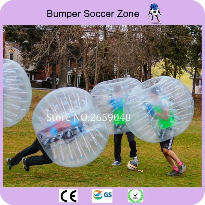 Bola inflable del parachoques de la bola inflable del hámster de la bola de Zorb de la bola del fútbol del fútbol de la burbuja del PVC del diámetro 1.5m para los adultos