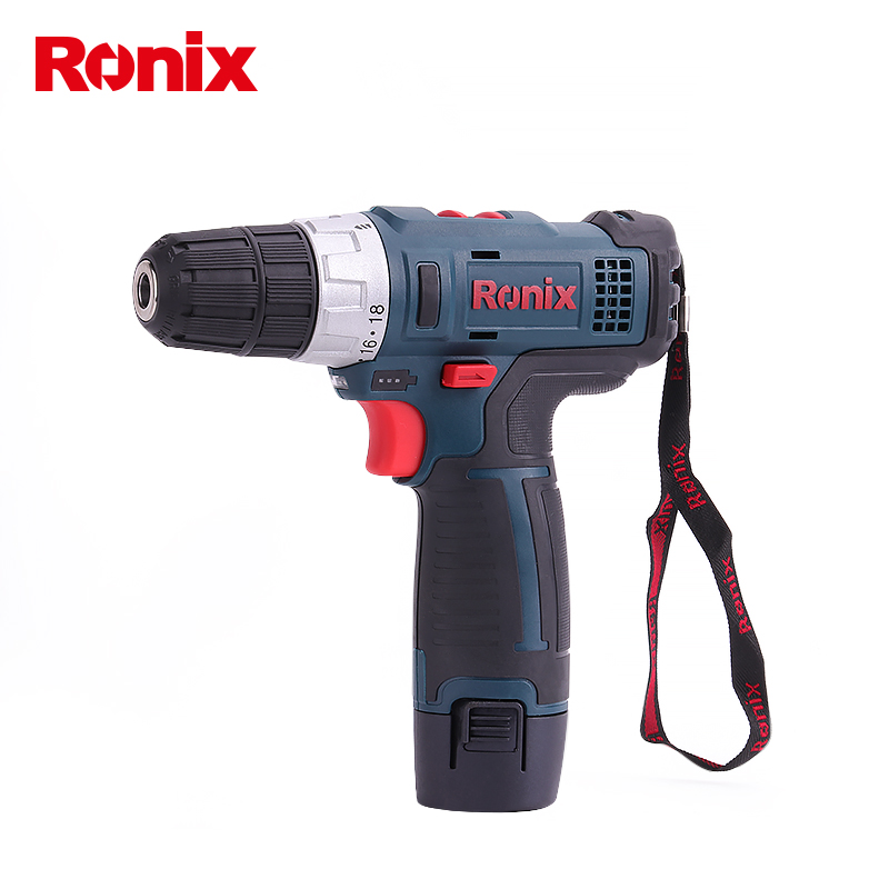 Ronix 2 Speed with 2 Batteries Cordlless Screwdriver Drill waterproof and Anti Shock Housing Model 8612 in Electric Screwdrivers from Tools
