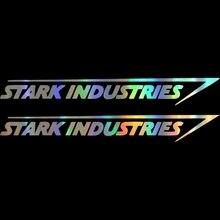 2 шт. автомобильные наклейки 20*2,5 см Stark Industries автомобильные полосы s виниловые наклейки Marvel Железный человек Мстители автомобиль Stying Jdm Racing