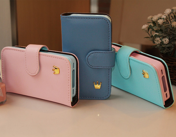 New  Crown mobile phone bag for iphone 4/4s,10pcs/lot