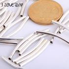 Wholesale Smooth Curved Tube Connector Charm Beads 100pcs/lot for Jewelry Making Bracelets