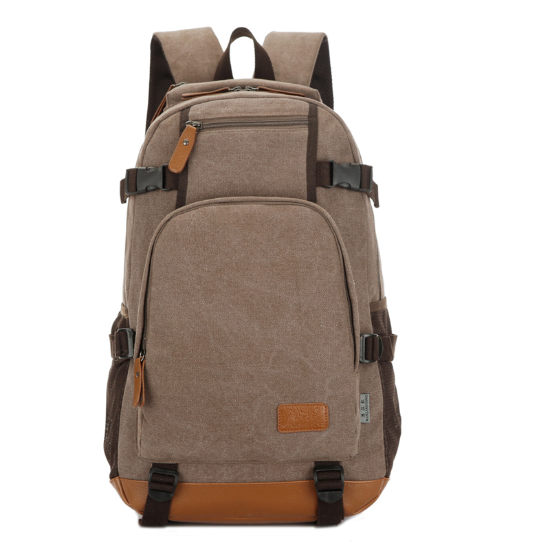 Fashion Men Laptop Backpack 14 Inch Canvas Backpack Travel Bag Patchwork Leather School Backpacks Large Travel Rucksack Men 1266 men backpack student school bag for teenager boys large capacity trip backpacks laptop backpack for 15 inches mochila masculina