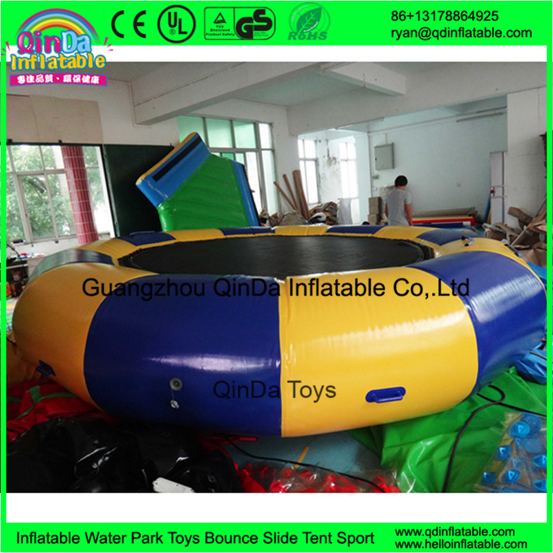 inflatable jumping water trampoline water bed110