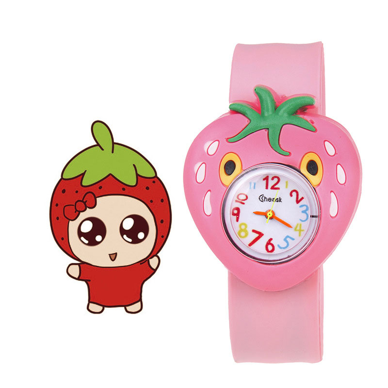Children Kids Wrist Quartz Watch Silicone Strap Cute Cartoon Style Fashion Birthday Gift Random Color TT@88
