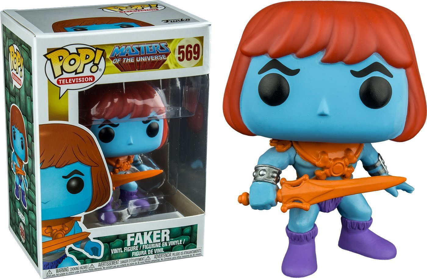 Exclusive Funko pop Masters of the Universe - Faker Vinyl Action Figure Collectible Model Toy with Original Box hannibal funko figure will graham funko pop vinyl figures funko 3 75 vinyl figures hannibal pop funko doll toy