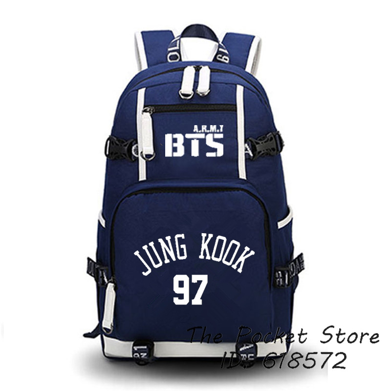 2017 Music Group BTS JUNG KOOK SUGA JIMIN School Bags Unisex Women Backpacks Cartoon Rucksack Schoolbag Fans Printing Backpack