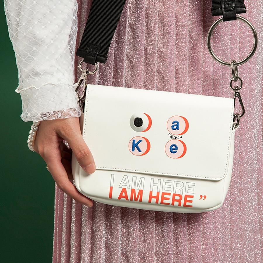 KOMESHOP PU bordado de cuero y bolsas de mensajero impresas para - Bolsos - foto 5