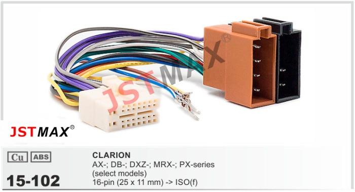 Clarion Radio Wiring Diagram Clarion Car Radio Stereo Audio Wiring