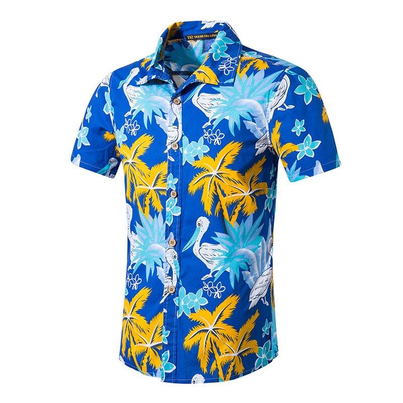 tan baratas gran descuento venta venta de descuento € 9.12 34% de DESCUENTO Camisas hawaianas de manga corta de Palma Tropical  para hombre, camisa de verano para hombre, camisas de playa de lujo para ...