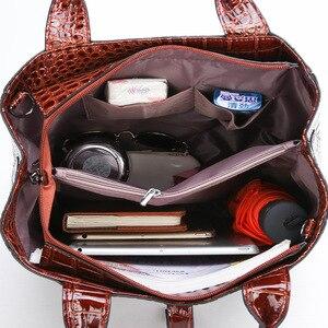 Image 4 - DIINOVIVO New Fashion Leather Bags 3 Set Women Handbag Luxury Large Capacity Tote Bag Purses and Handbags Wholesale WHDV0892