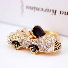 Сплав цинка Горный Хрусталь Roadster Брелок Мода Женщины Автомобилей Кристалл Брелки Мужчины Брелок Key Holder Персонализированные Подарок PWK0191