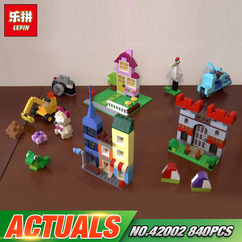 Lepin 42002 840Pcs Genuine Creative Series The Large Brick Box 10698 Builing Blocks Bricks Children Educational Toys Model Gifts степлер мебельный со скобами sparta 42002