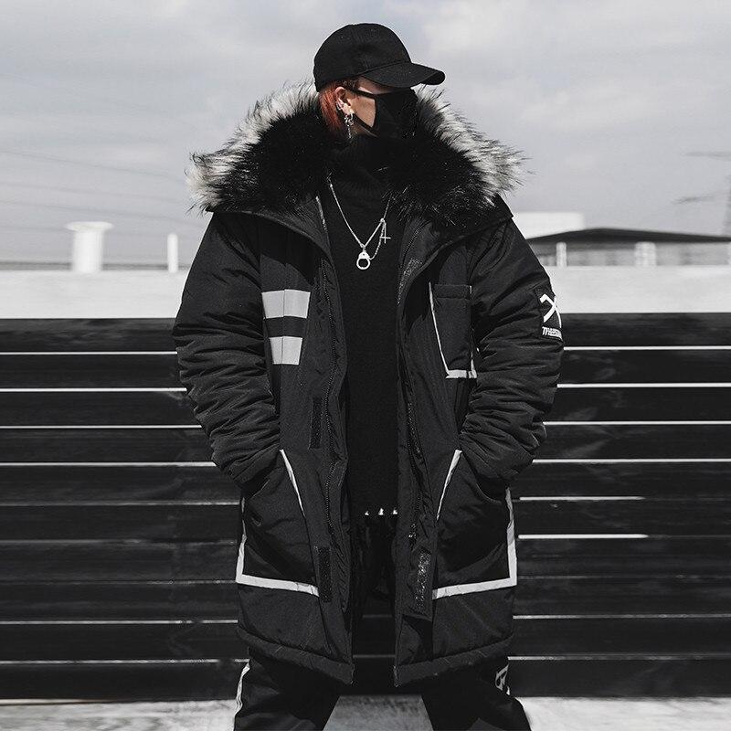 Zima ciepła nowy męska bawełniana odzież moda Hip Hop grube ciepła bawełniana kurtka duży rozmiar ciepły płaszcz rozmiar US S XXL w Parki od Odzież męska na  Grupa 1