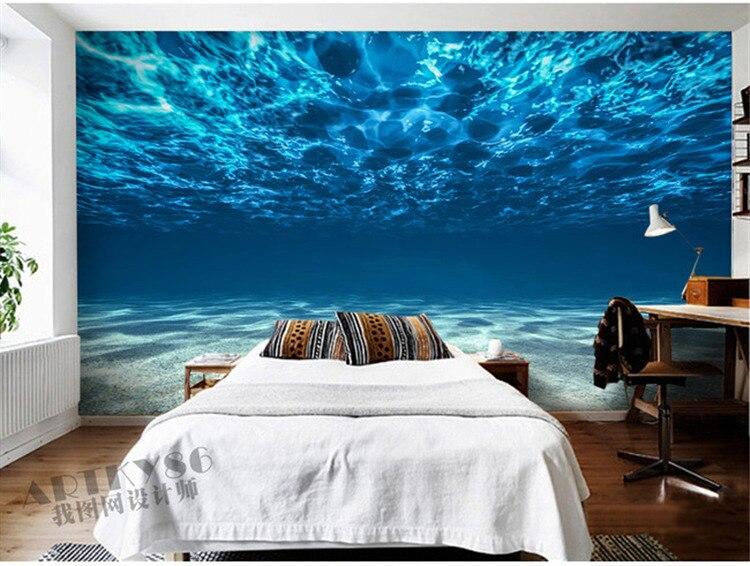ocean bedroom. Charming Deep Sea Photo Wallpaper Custom Ocean Scenery Decor Bedroom  Home Design