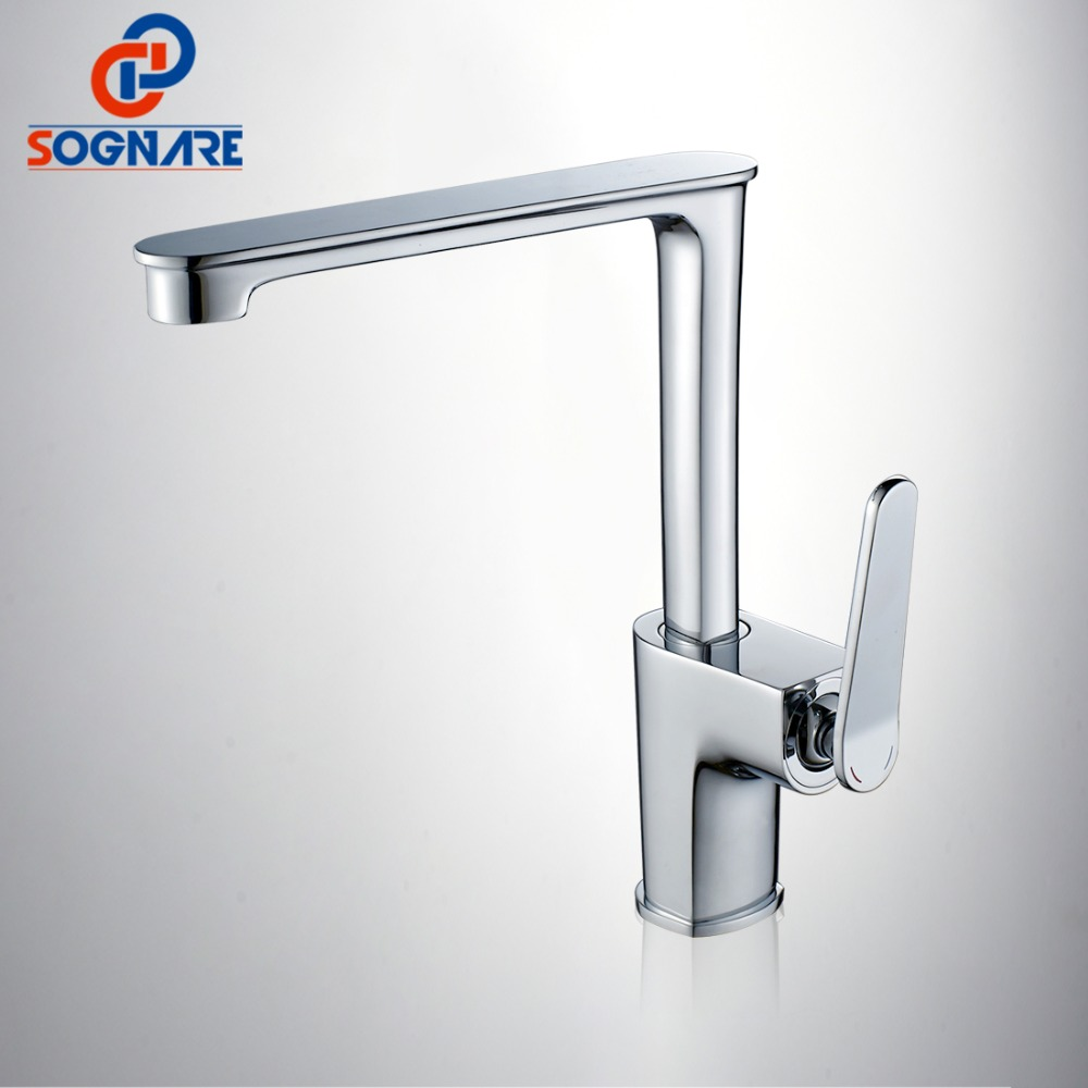 SOGNARE Fashion Style Chrome Bath Basin Faucet Deck Mounted Single Handle Bathroom Faucet Cold and Hot Water Mixer Taps D2301 bakala new product modern bath chrome faucet brass sanitary ware faucet hot and cold water basin faucet single hole basin mixer