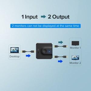 Image 5 - Ugreen rozdzielacz HDMI przełącznik dwukierunkowy 4K HDMI przełącznik 1x 2/2x1 Adapter 2 w 1 konwerter na PS4/3 TV, pudełko rozdzielacz HDMI
