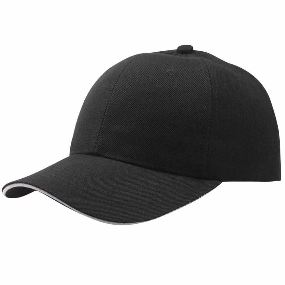 גברים בייסבול Caps קיץ יוניסקס מוצק צבע רגיל מעוקל מגן שמש היפ הופ כובע כובע נשים מתכוונן כותנה Caps # LR2
