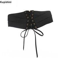 New Fashion Women Elastic Waistband Corset Belt Cummerbund Dress Korean Wide Waist Belts Bandage Back Push